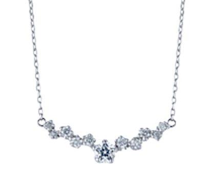 K18WGダイヤモンドネックレス
